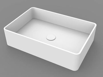 Rectangle Counter Top Basin / Stone Resin Wash Basin Solid Surface