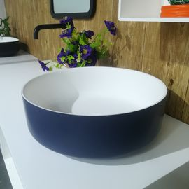 Solid Surface Counter Top Basin Customized Colour Small Round Hand Wash Basin