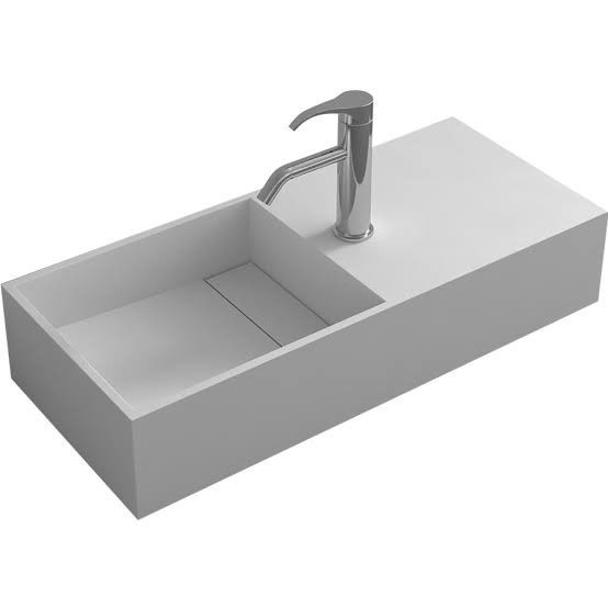 Drilling Wall Hung Bathroom Basins Stain Resistance / Hanging Wash Basin